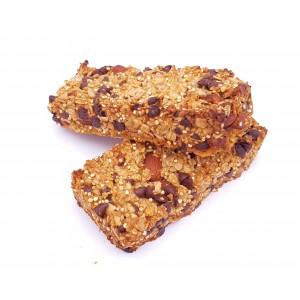 Barres de céréales artisanales au chocolat x2 (130g env.)