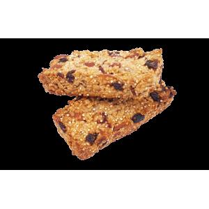 Barres de céréales artisanales aux raisins secs et cranberries x2 (130g env.)