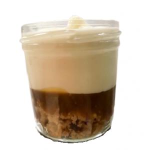 Crumble glacé vanille et caramel beurre salé (125 ml)