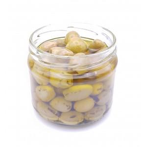 Olives vertes dénoyautées à l'huile (250g)