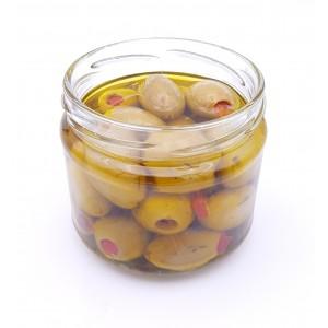 Olives vertes farcies aux poivrons (250g)