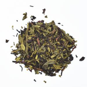Thé vert et noir 1001 nuits (100g) - vanille et fruits rouges